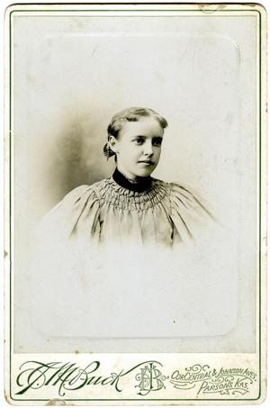 Primary view of object titled '[Portrait of a Ella Reynolds]'.