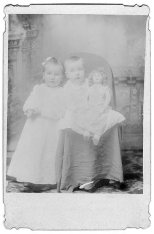 Primary view of object titled '[Portrait of Two Children with a Doll]'.
