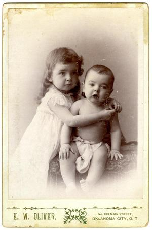 [Portrait of a Toddler and an Infant]