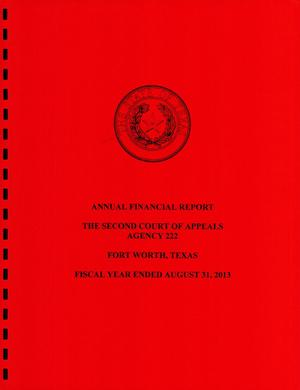 Primary view of object titled 'Texas Second Court of Appeals Annual Financial Report: 2013'.