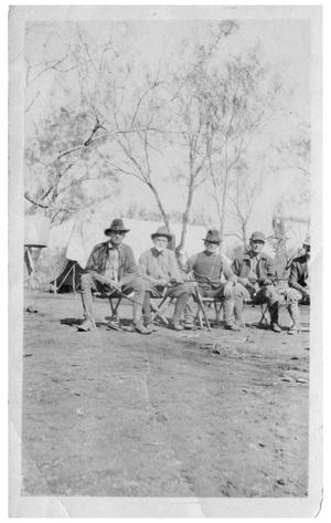Primary view of object titled '[Roy Rodriguez and Four Men with Long Guns]'.