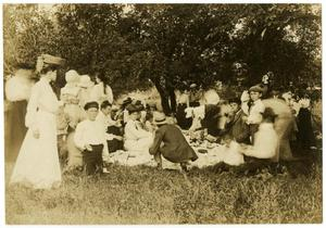 Primary view of object titled '[A Large Picnic Group]'.