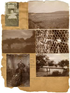 Primary view of object titled '[Six Photographs on a Scrapbook Page]'.