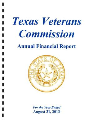 Primary view of object titled 'Texas Veterans Commission Annual Financial Report: 2013'.