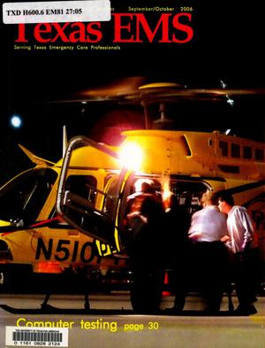 Primary view of object titled 'Texas EMS Magazine, Volume 27, Number 5, September/October 2006'.