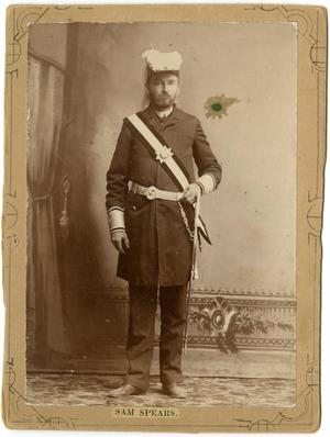 Primary view of object titled '[Sam Spears in Military Uniform]'.