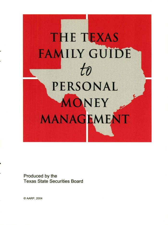 the texas family guide to personal money management the portal to