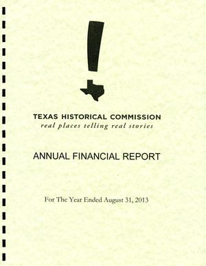 Primary view of object titled 'Texas Historical Commission: Annual Financial'.