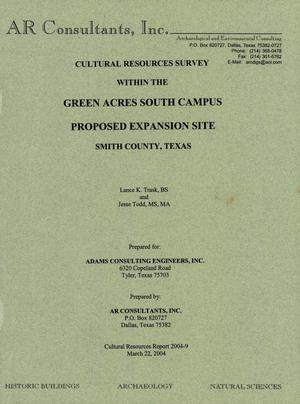 Primary view of object titled 'Cultural Resources Survey Within the Green Acres South Campus Proposed Expansion Site'.