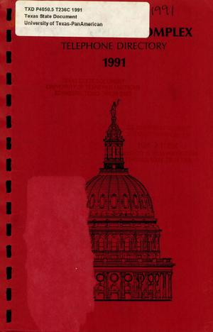 Primary view of object titled 'Texas Capitol Complex Telephone Directory'.