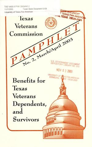 Primary view of object titled 'Texas Veterans Commission Pamphlet, Number 2, March/April 2003'.