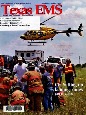 Primary view of object titled 'Texas EMS Magazine, Volume 26, Number 5, September/October 2005'.