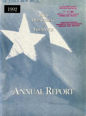 Primary view of object titled 'Texas Department of Insurance Annual Report: 1992'.