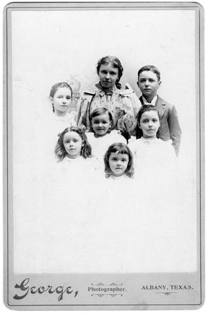 Primary view of object titled '[Portrait of Seven Children]'.