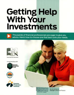 Primary view of object titled 'Getting Help with Your Investments'.
