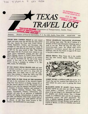Primary view of object titled 'Texas Travelog, January 1993'.