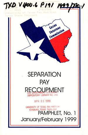 Primary view of object titled 'Texas Veterans Commission Pamphlet, Number 1, January/February 1999'.