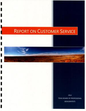 Primary view of object titled '2014 Report on Customer Services'.