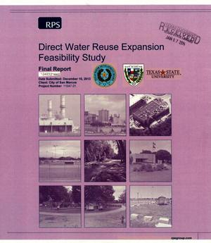 Primary view of object titled 'Direct Water Reuse Expansion Feasibility Study: Final Report'.
