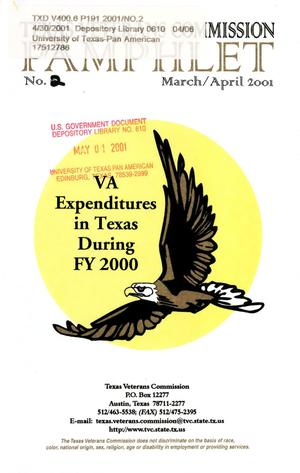 Primary view of object titled 'Texas Veterans Commission Pamphlet, Number 2, March/April 2001'.