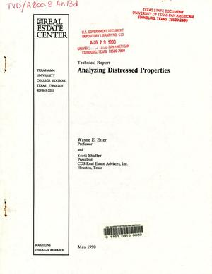Primary view of object titled 'Analyzing Distressed Properties: Distressed Report'.