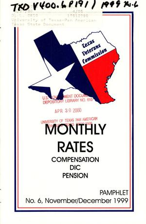 Primary view of object titled 'Texas Veterans Commission Pamphlet, Number 6, November/December 1999'.