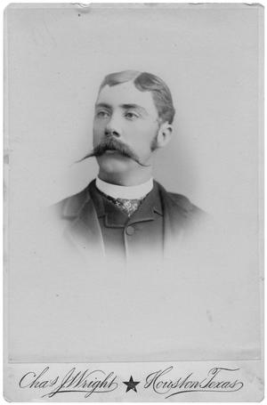 Primary view of object titled '[Portrait of a Man with a Long Mustache]'.