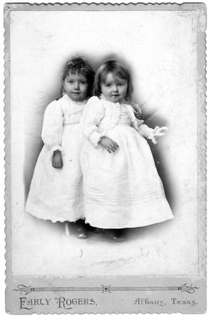 Primary view of object titled '[Portrait of Mary Conrad and Lucile Matthews in White Dresses]'.