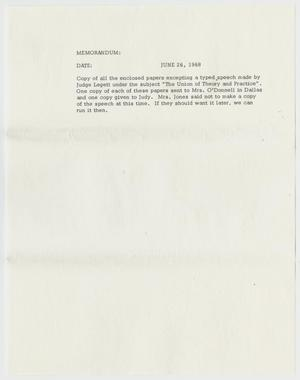 Primary view of object titled '[Memorandum Concerning Enclosed Papers]'.