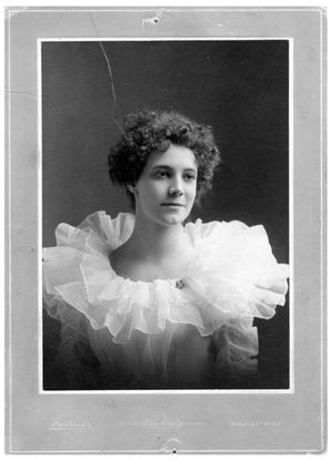 Primary view of object titled '[Bessie Rembert in a Gauzy White Dress]'.