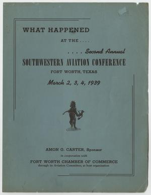 Proceedings of the Southwest Aviation Conference, 1939