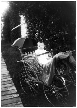 Primary view of object titled '[Baby Outdoors in a Carriage]'.