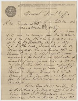 Primary view of object titled '[Legal Document Concerning Land]'.