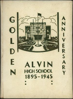Primary view of object titled 'Yellow Jacket, Yearbook of Alvin High School, 1945'.
