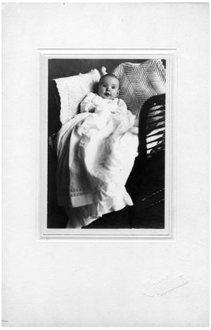 Primary view of object titled '[An Infant Lying in Blankets]'.
