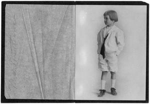 Primary view of object titled '[Portrait of John A. Matthews, Jr. in a Sailor Suit]'.