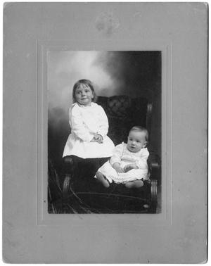 Primary view of object titled '[Portrait of Two Children on a Chair]'.
