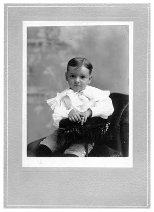 Primary view of object titled '[Portrait of a Young Child on a Chair]'.