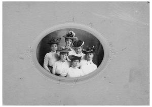 Primary view of object titled '[Six Women Posing for a Portrait]'.