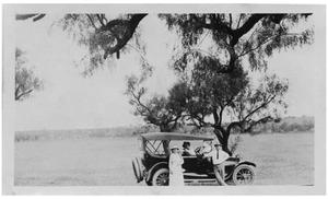 Primary view of object titled '[Family with a Car on Range Land]'.