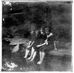 Primary view of object titled '[Four Girls in Bathing Suits]'.
