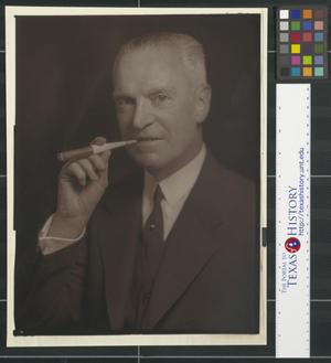 Primary view of object titled '[Portrait of a Man with a Cigar]'.