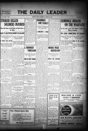 The Daily Leader (Orange, Tex.), Vol. 2, No. 144, Ed. 1 Thursday, August 12, 1909