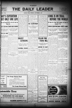 Primary view of object titled 'The Daily Leader (Orange, Tex.), Vol. 2, No. 168, Ed. 1 Thursday, September 9, 1909'.