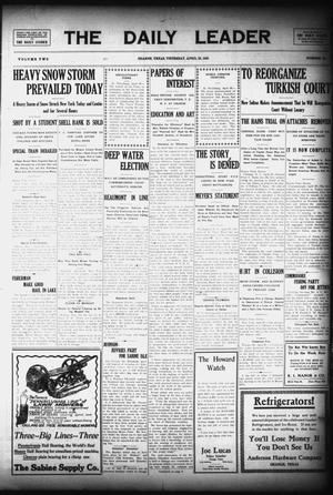 Primary view of object titled 'The Daily Leader (Orange, Tex.), Vol. 2, No. 56, Ed. 1 Thursday, April 29, 1909'.