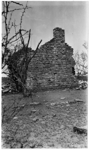 Primary view of object titled '[Ruined Stone Building]'.