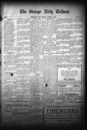 Primary view of object titled 'The Orange Daily Tribune. (Orange, Tex.), Vol. 5, No. 339, Ed. 1 Tuesday, December 26, 1905'.