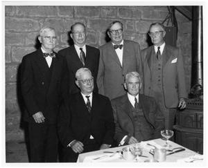 [Senior Reynolds Brothers Arranged in Front of a Stone Wall]