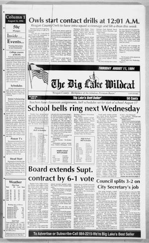 Primary view of object titled 'The Big Lake Wildcat (Big Lake, Tex.), Vol. 69, No. 32, Ed. 1 Thursday, August 11, 1994'.