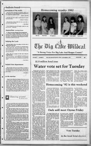Primary view of object titled 'The Big Lake Wildcat (Big Lake, Tex.), Vol. 57, No. 37, Ed. 1 Thursday, September 16, 1982'.